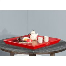 Scarlet Sun Ottoman Tray