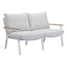 Maya Beach Sofa Gray, Natural & White Product Image