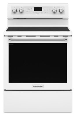 30-Inch 5-Element Electric Convection Range - White