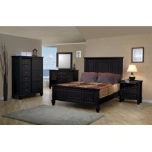 Sandy Beach Black Queen Five-piece Bedroom Set