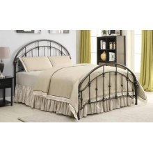 Maywood Transitional Black Metal Eastern King Bed
