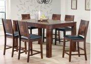 Walnut & Ash Burl Veneer Pub Table Set Product Image