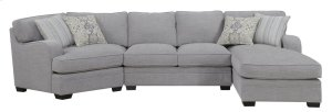 Emerald Home Analiese 3pc Sectional Linen Gray U4315-29-16-30-03-k