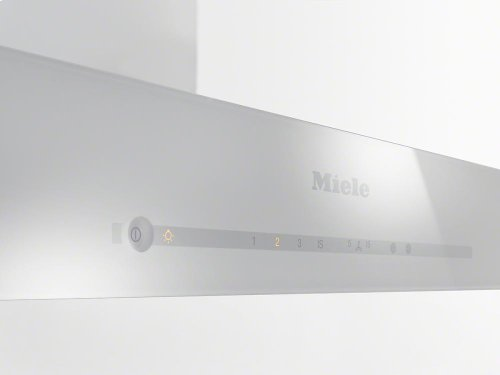 DA 6690 W Puristic Edition 6000 AM Wall ventilation hood with energy-efficient LED lighting and touch controls for simple operation.