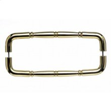 Nouveau Ring Door Pull Back to Back 12 Inch (c-c) - Polished Brass