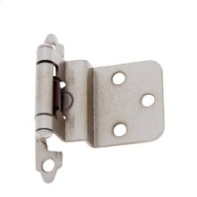 Satin Nickel Inset Self-Closing Hinge
