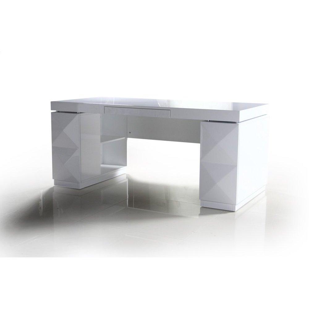 Versus Eva - White Lacquer Modern Desk