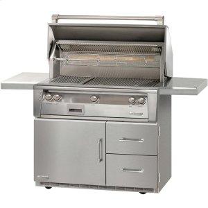 "Alfresco42"" Standard Grill on Refrigerated Base Sear Zone"