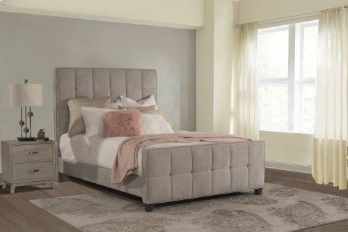 Sylvia King Bed - Luminata Silver