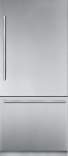36 inch Stainless Steel Built in 2 Door Bottom Freezer, Pre-Assembled, Masterpiece® Handle T36BB910SS