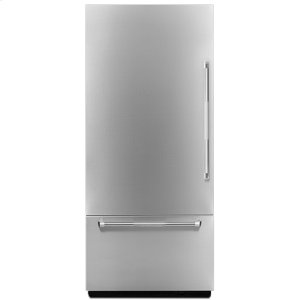"Jenn-AirPro-Style(R) 36"" Fully Integrated Built-In Bottom-Freezer Left-Hand Door Swing Panel-Kit"