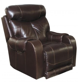 Leather Power Headrest Lay Flat Recliner