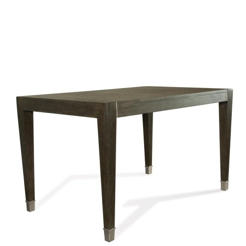 Joelle - Gathering Height Dining Table - Carbon Gray Finish