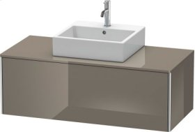Vanity Unit For Console Wall-mounted, Flannel Gray High Gloss Lacquer