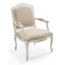 Pull Up Arm Chair,Simple Stucco,Flax