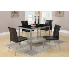 F2363 / Cat.19.p66- 5PCS TABLE+4CHAIR GLASS TOP