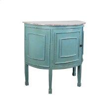 CC-CHE090TLD-BBLW  Cottage Half Round Cabinet