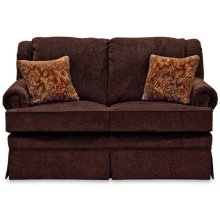 Rochelle Loveseat 4006 in Maxima Plum Floral Fabric