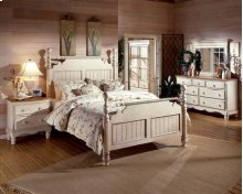 Wilshire 6pc King Post Bedroom Suite