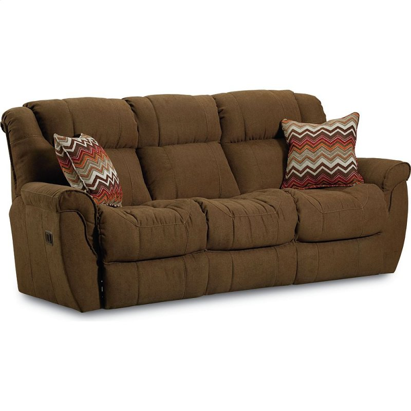 Montgomery 2 Arm Double Reclining Sofa With Table And Motor Mage