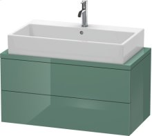 Delos Vanity Unit For Console Compact, Jade High Gloss Lacquer