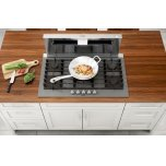 Benchmark(r) Gas Cooktop 36'' Tempered Glass, Dark Silver Ngmp677uc
