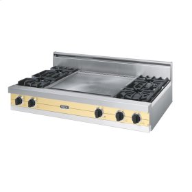 "Golden Mist 48"" Open Burner Rangetop - VGRT (48"" wide, four burners 24"" wide griddle/simmer plate)"