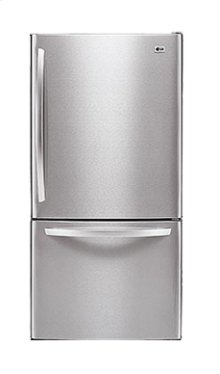 Large Capacity Bottom Freezer Refrigerator with Pull Freezer Door