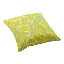 Bunny Large Outdoor Pillow Olive Green Base With Pattern