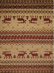 Affinity Embroided Moose Natu Rugs