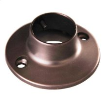 Round Shower Rod Flange - Oil Rubbed Bronze