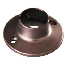 Round Shower Rod Flange - Oil Rubbed Bronze