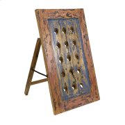 Samanea Recycled Wood Wine Bottle Holder Product Image