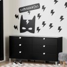 Superheroes Wall Decals - Black Product Image