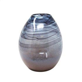 """Glass Vase 14.75"""", Multi"""