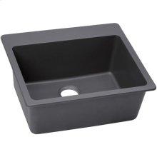 """Elkay Quartz Luxe 25"""" x 22"""" x 9-1/2"""", Single Bowl Drop-in Sink, Charcoal"""
