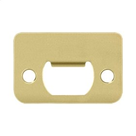 "Strike Plate, 2-1/4"" x 1-1/2"" - Polished Brass"