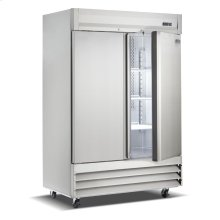 Two Door, Stainless Steel Solid Door Commercial Refrigerator