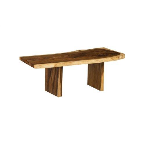 Live Edge Dining Table, Chamcha Wood, Wood Legs