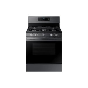Samsung5.8 cu. ft. Freestanding Gas Range in Black Stainless Steel