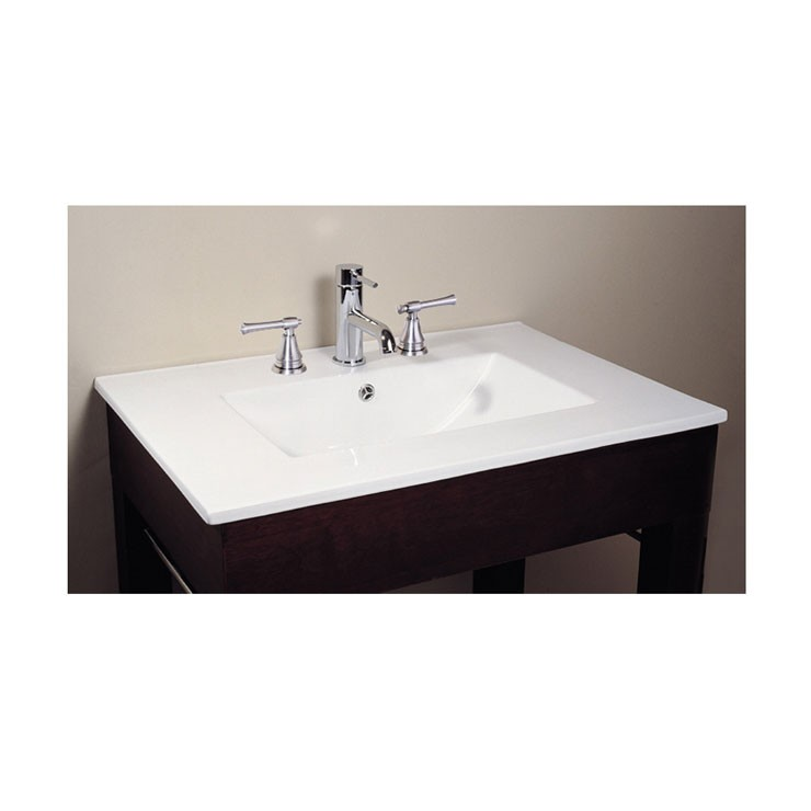 49 in. Vitreous China Vanity Top