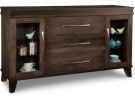 Verona Sideboard w/2 Glass Doors & 3/Dwrs in Center & 4/Glass Adjust. Product Image