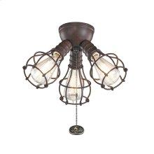 3 Light Industrial Decorative Fitter Light Kit Tannery Bronze