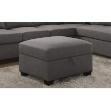 Powell Transitional Beige Storage Ottoman