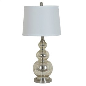 Metal base with mercury glass Table Lamp