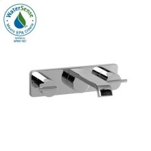 Widespread Wall-Mount Lavatory Set - Lever Handles - Polished Chrome