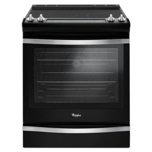 Whirlpool® 6.4 Cu. Ft. Slide-In Electric Range with True Convection - Black Ice Product Image