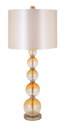 TY Amber Glass Table Lamp