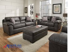 5400 Santa Fe Grey Sofa and Loveseat