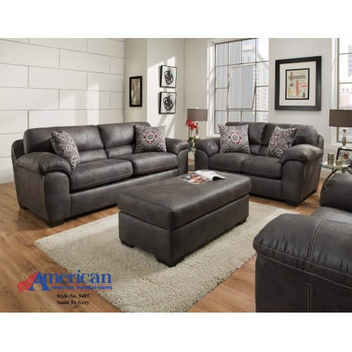 5400 Santa Fe Grey Sofa and Loveseat